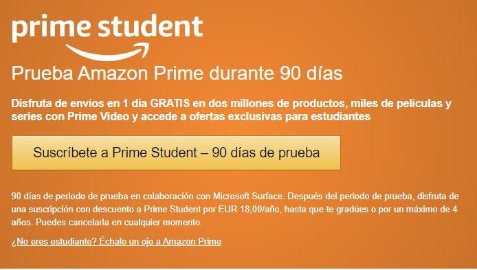 Suscribete a prime Student