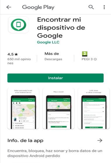 Aplicación de Google Play Protect