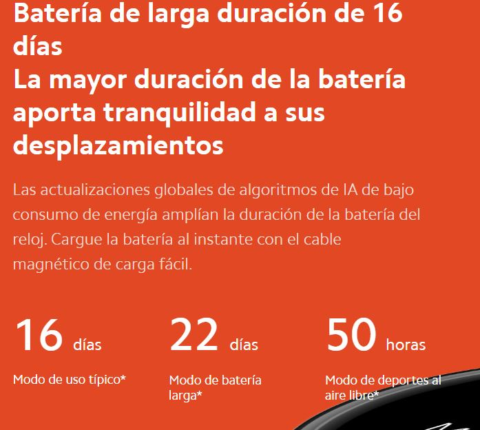 Duracion bateria del Xiaomi Mi Watch