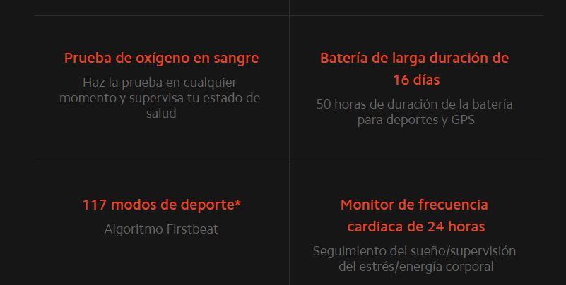 Xiaomi Mi Watch Medición de Nivel de oxígeno en Sangre, y seguimiendo de 100+ Ejercicios
